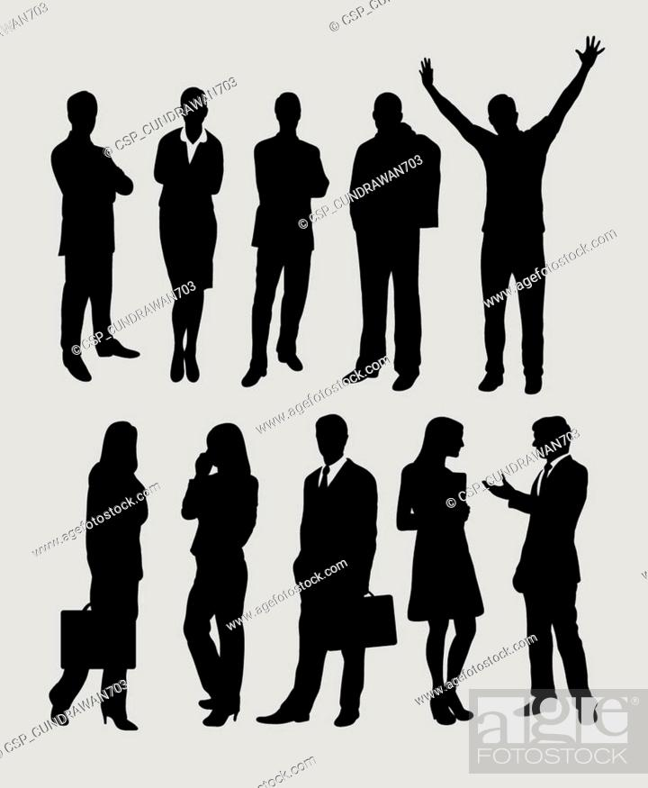Stock Vector: People silhouettes.