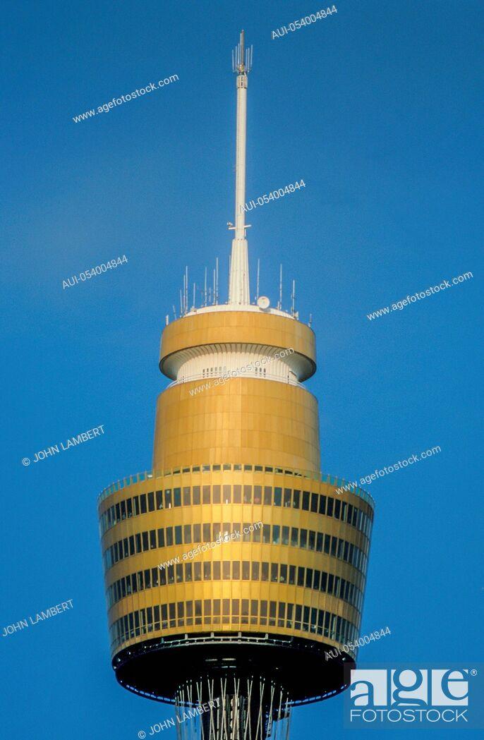 Stock Photo: the sydney tower, sydney, new south wales, australia.