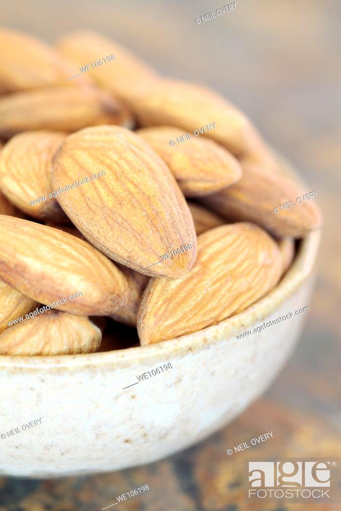 Stock Photo: Almonds in Bowl.