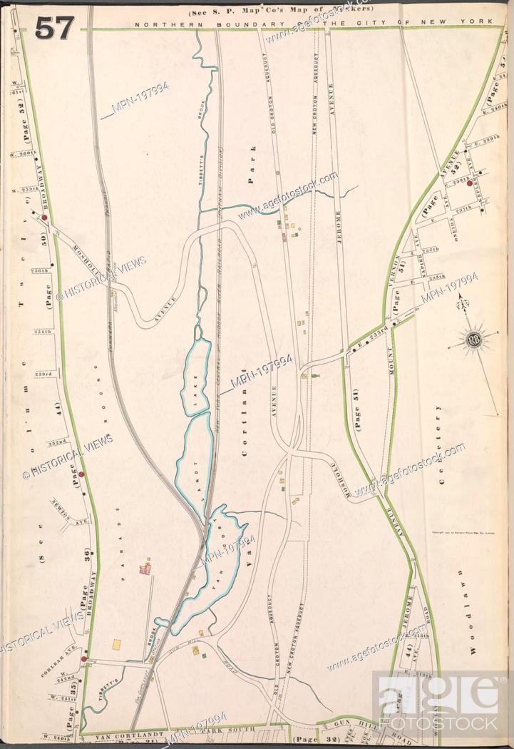 Bronx, V. 13, Plate No. 57 [Map bounded by Broadway, Van Cortlandt ...