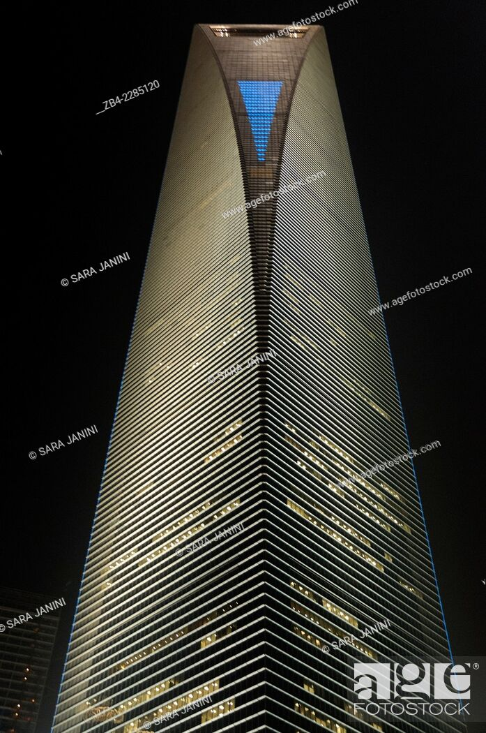 Stock Photo: 'The Shanghai World Financial Center' 492 meters high, Pudong Business District, Shanghai, China, Asia.