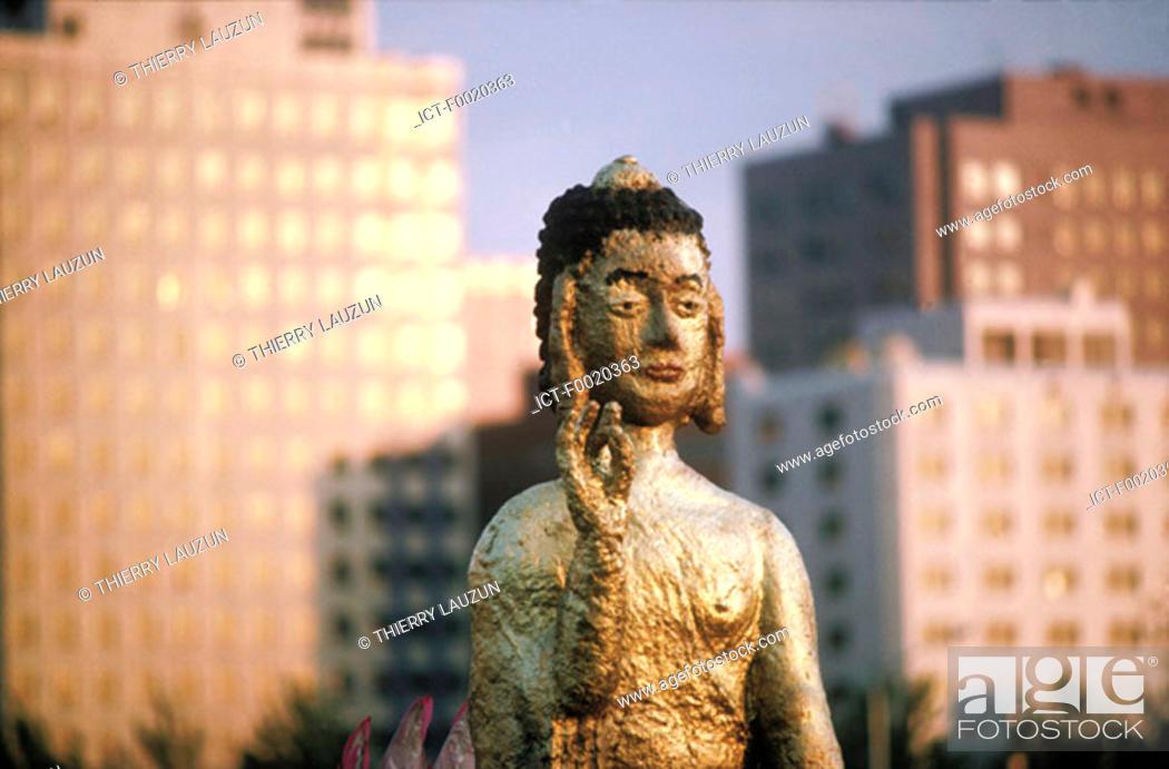 Stock Photo: South Korea, Yoido, Buddha's birthday festival.
