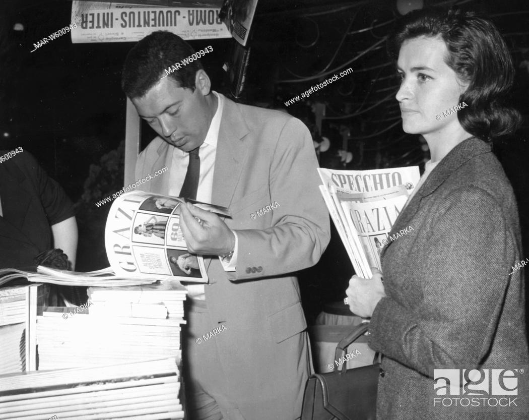 nicola pietrangeli with wife susanna, 1962, Stock Photo, Picture And Rights  Managed Image. Pic. MAR-W600943