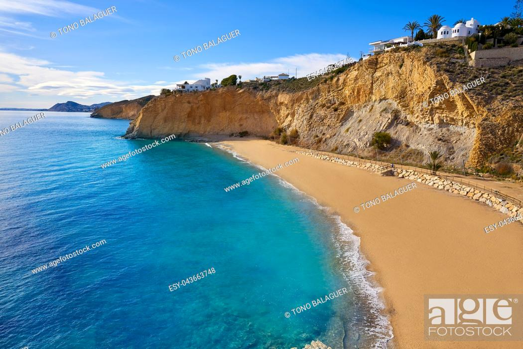 Photo de stock: Bol Nou also Bon nou beach in Villajoyosa of Alicante also VilaJoiosa of spain Costa Blanca.