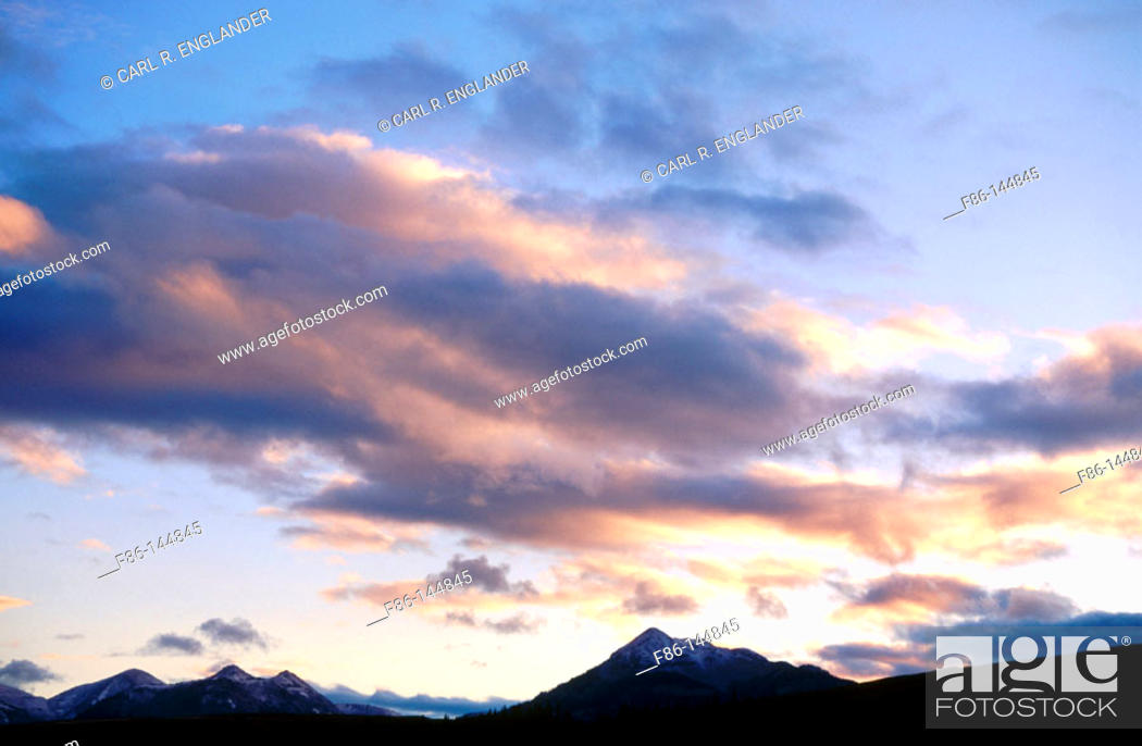 Stock Photo: Clouds. Yellowstone National Park. Wyoming. USA.