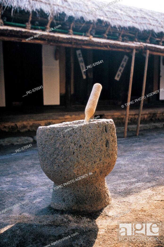 Stock Photo: Jeolgu A Mortar,Jeju Island,Korea.
