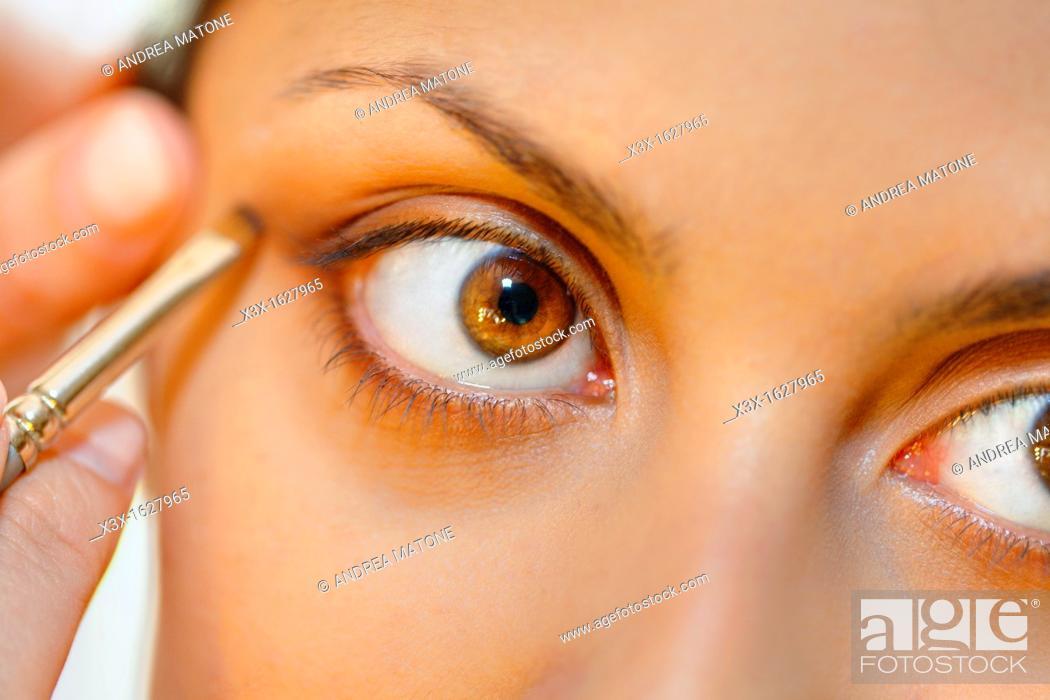 Stock Photo: Eye shadow.