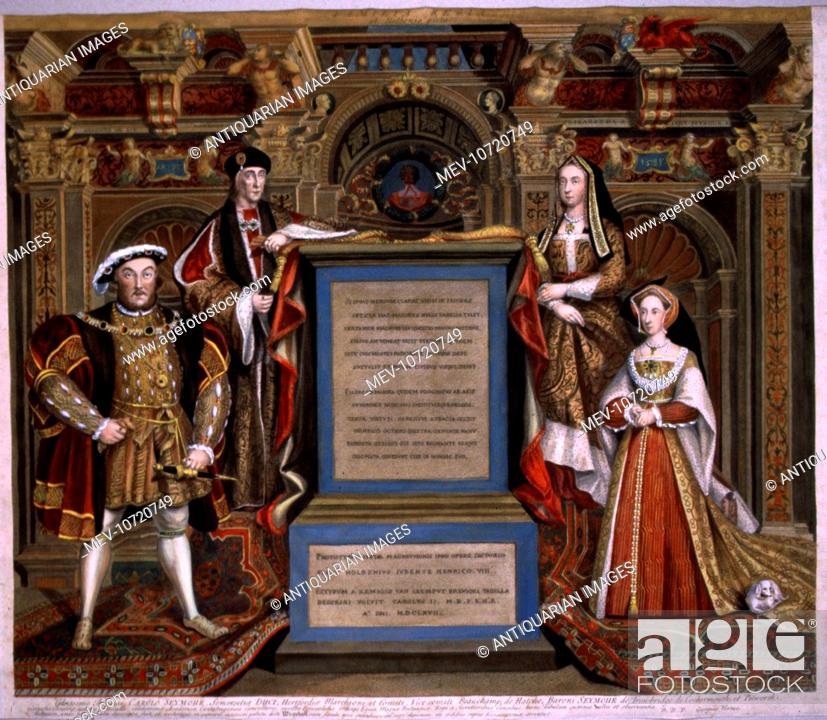 King Henry VIII, Henry VII, Elizabeth of York, Jane Seymour, Stock