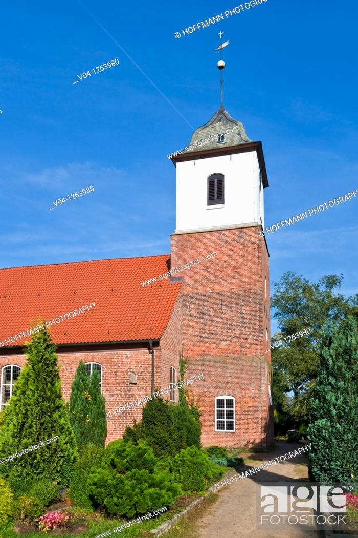Stock Photo: The Zion church in Worpswede, Lower Saxony, Germany, Europe.