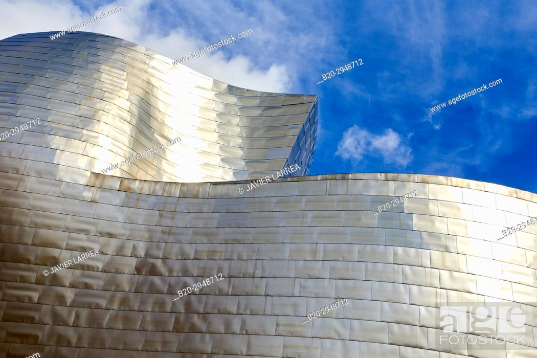 Stock Photo: Guggenheim Museum, Bilbao, Bizkaia, Basque Country, Spain, Europe.