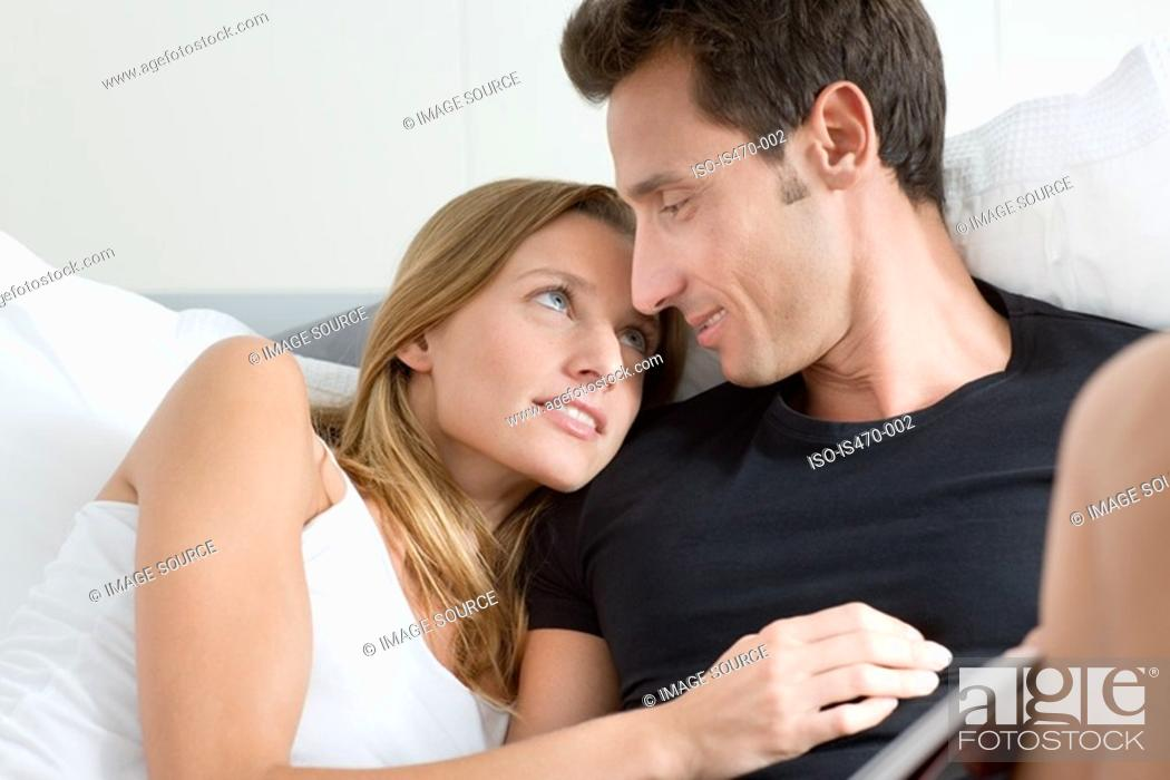 Stock Photo: Relaxed couple.