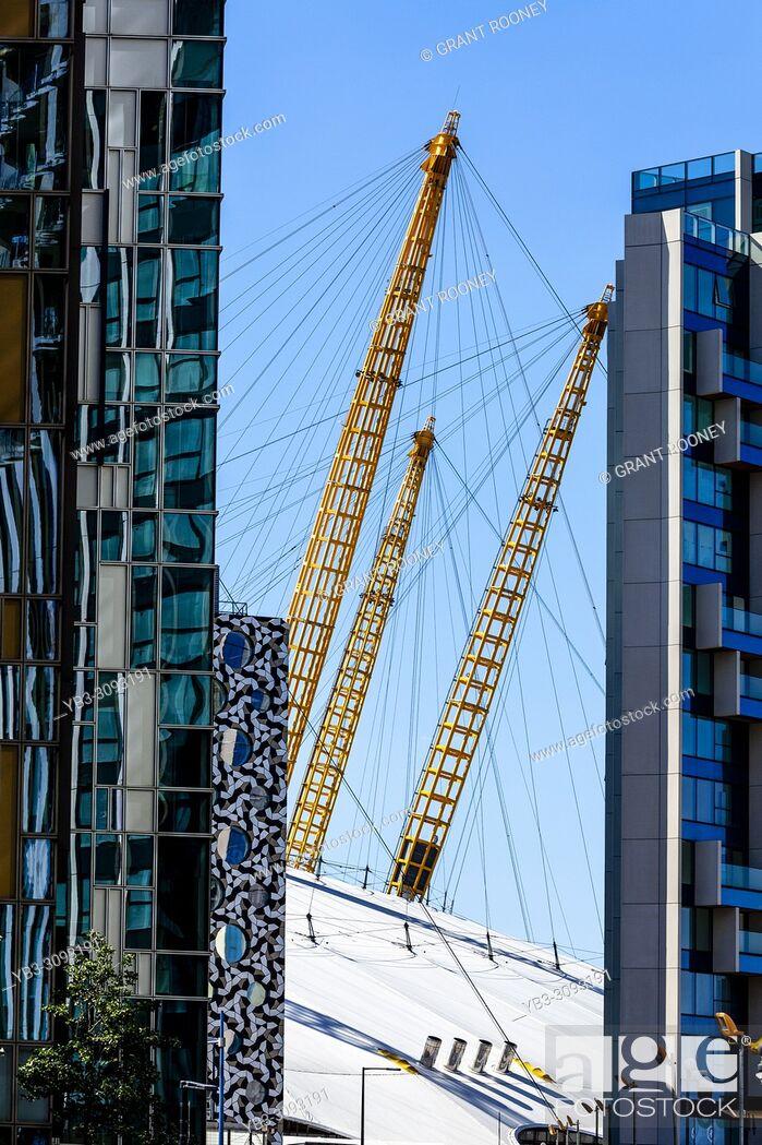 Stock Photo: Modern Architecture, Greenwich Peninsula, London, England.