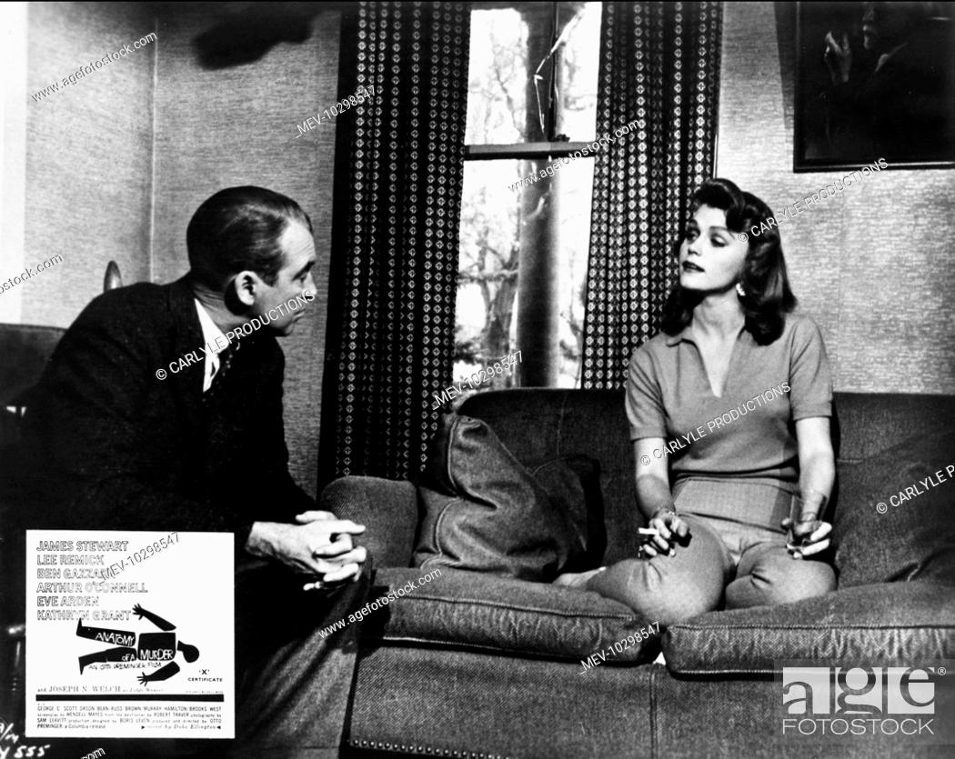 ANATOMY OF A MURDER JAMES STEWART, LEE REMICK, Stock Photo, Picture ...