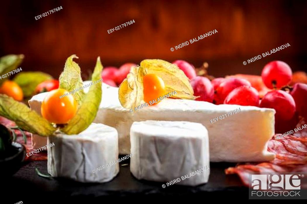 Stock Photo: Antipasto dinner platter.