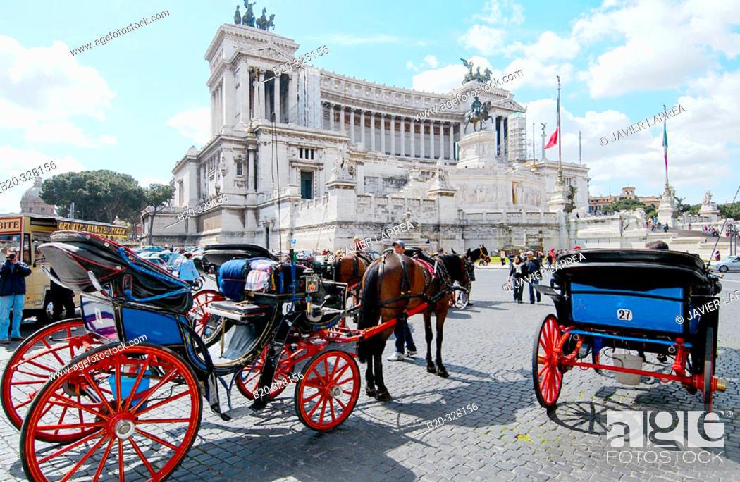 Stock Photo: Monumento to Vittorio Emanuele II in Piazza Venezia. Rome. Italy.