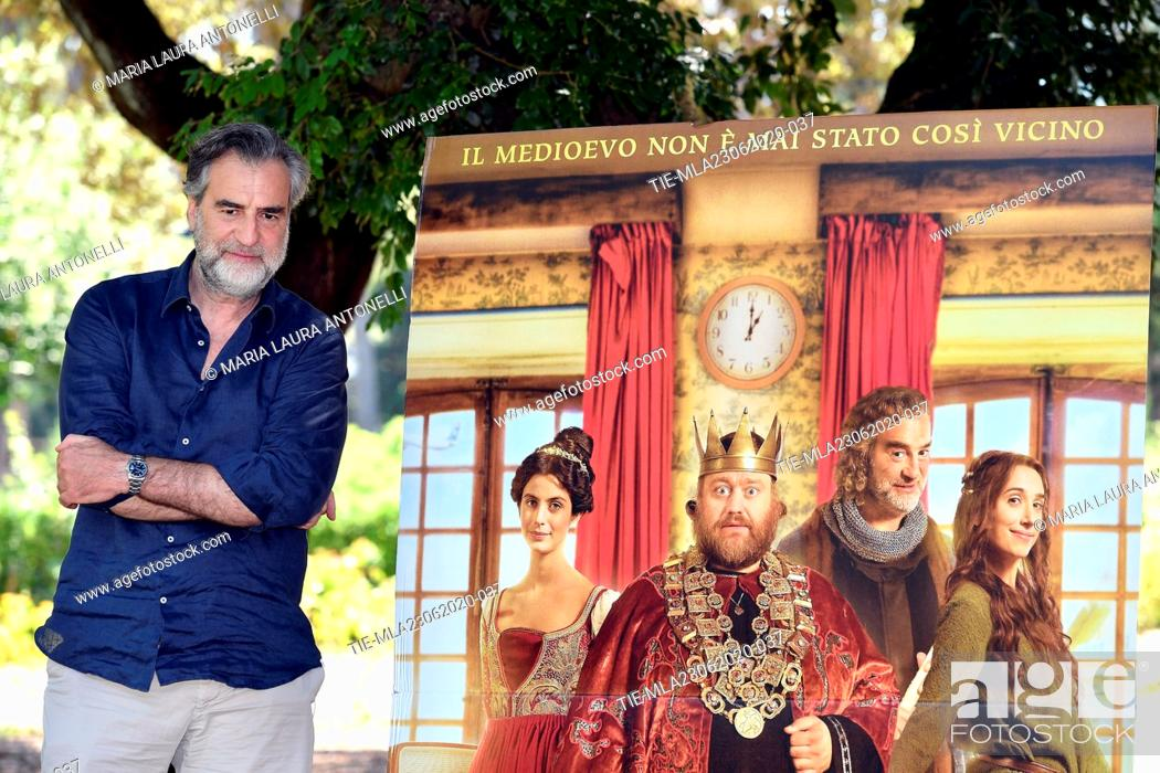 Stock Photo: Actor Max Tortora during the photocall of film ' Il Regno' (The Kingdom) , Rome, ITALY-23-06-2020.