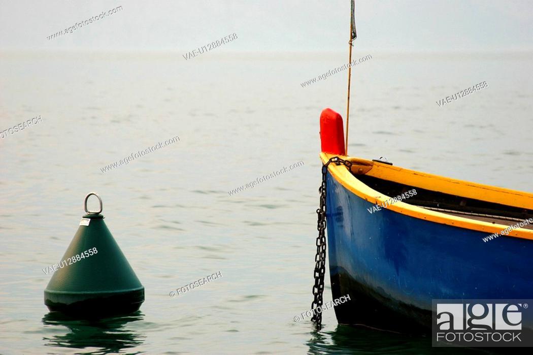 Stock Photo: boat, bow, buoy, burkhard, day.