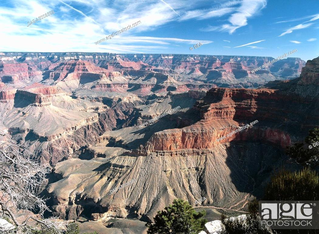 Stock Photo: United States of America - Arizona - Grand Canyon National Park (UNESCO World Heritage List, 1979). South Rim of Grand Canyon.