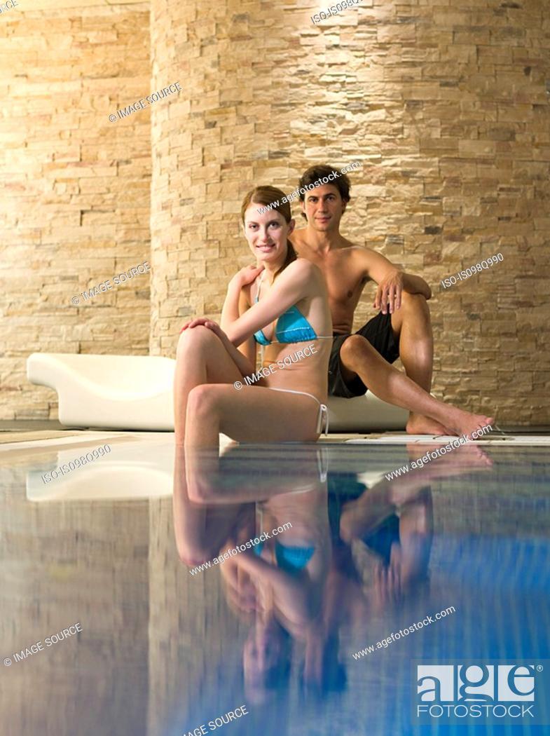 Stock Photo: Couple at a health spa.