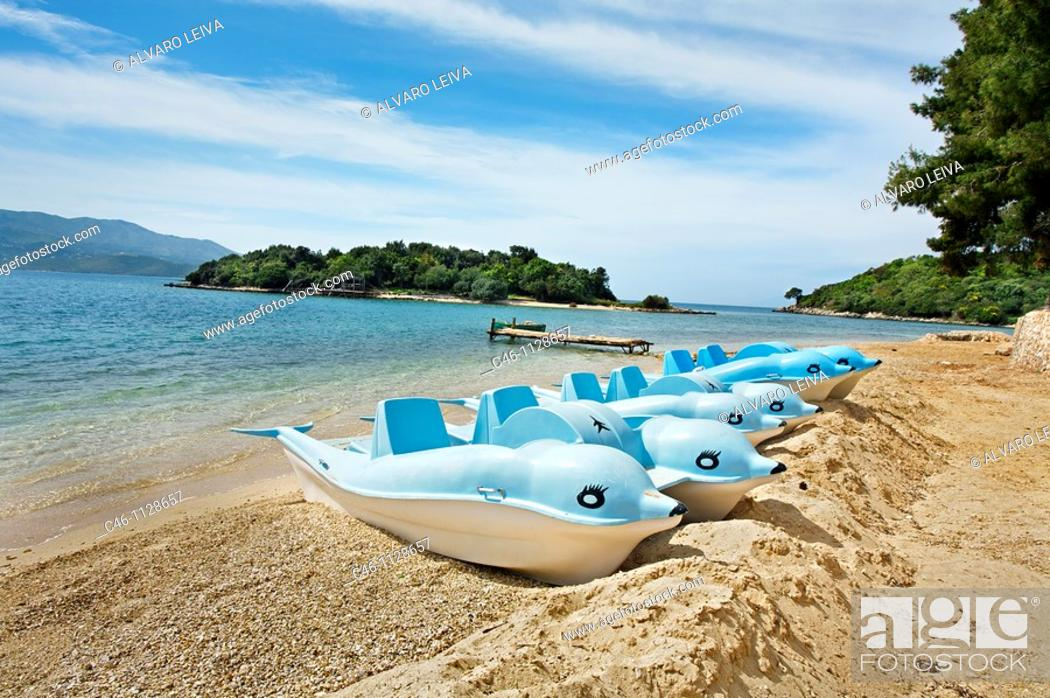 Stock Photo: Beach near Saranda. Albania.