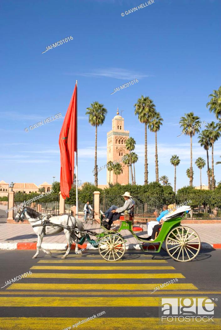 Stock Photo: Koutoubia Mosque, Marrakesh, Morocco.