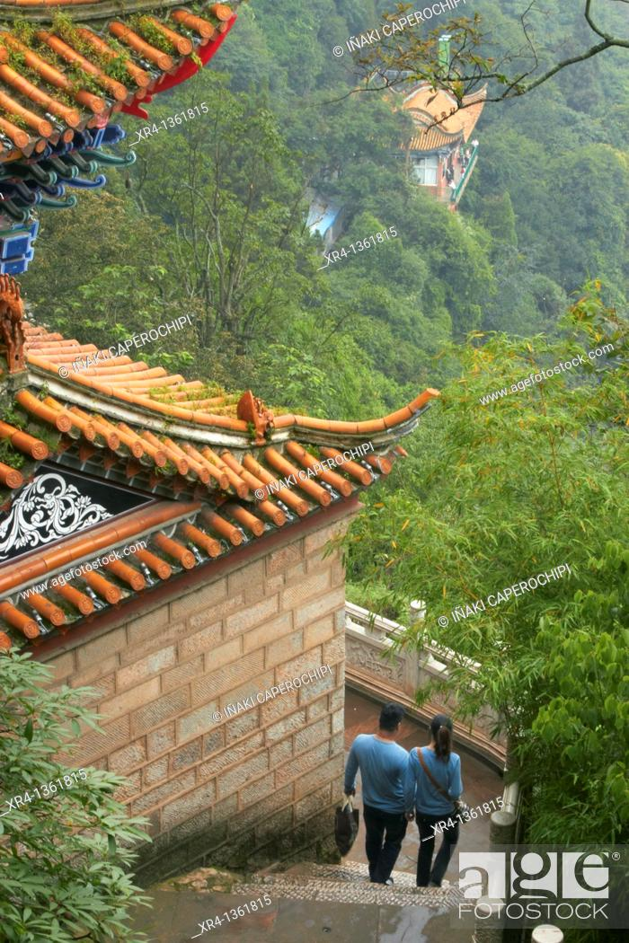 Stock Photo: Dragon Gate, Mountains Xi Shi Shan Shan, Yunnan, China.