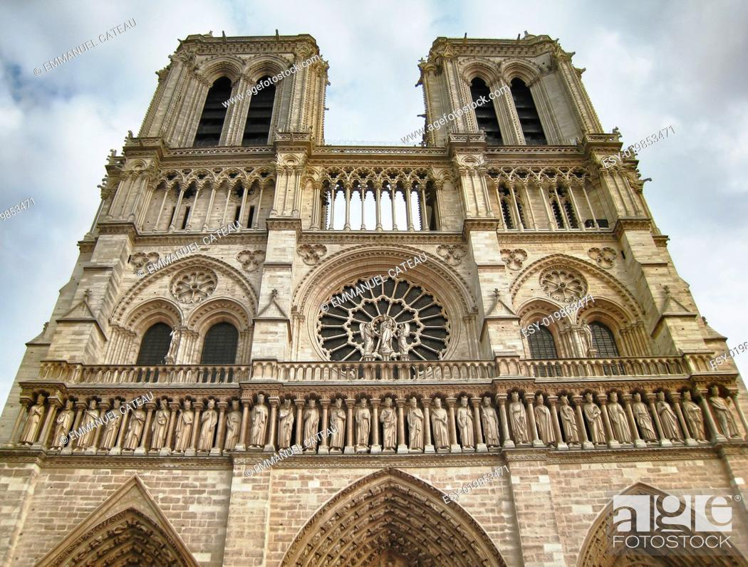 Stock Photo: Notre Dame de Paris - France.