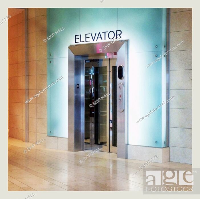 Stock Photo: Elevator in a mall.
