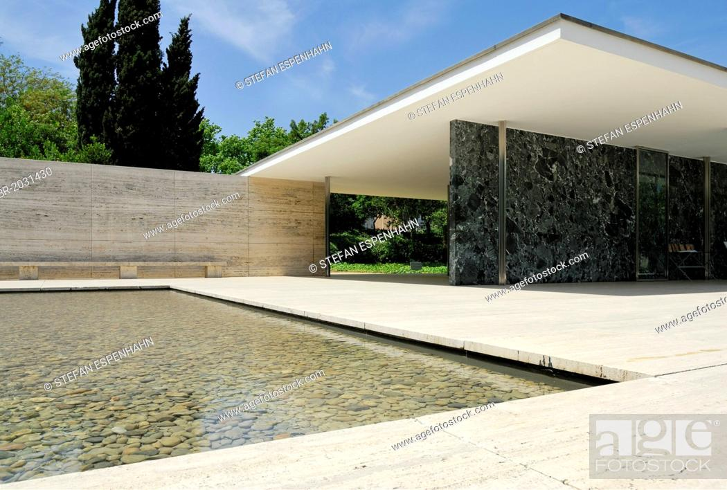 Barcelona Pavilion Reconstructed German Pavilion For The 1929