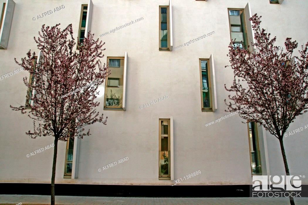 Stock Photo: Can Travi apartments, 2009, architect: Sergi Serrat, Barcelona, Catalonia, Spain.