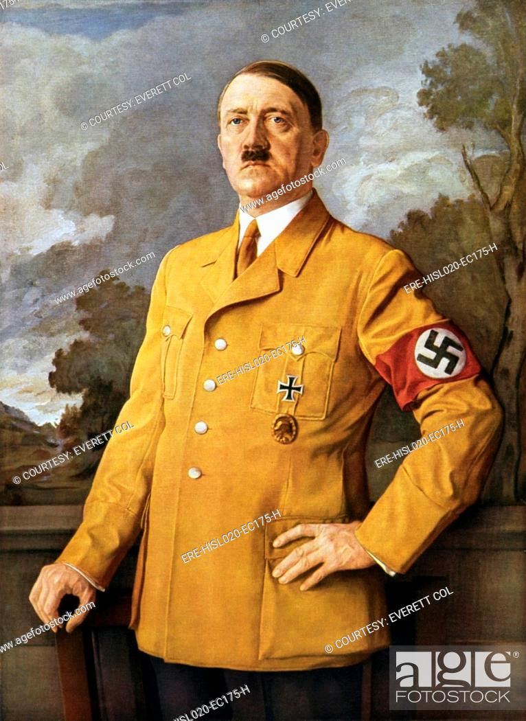 Stock Photo: OUR FUHRER, a portrait of Adolf Hitler by Heinrich Knirr. Ca. 1940.