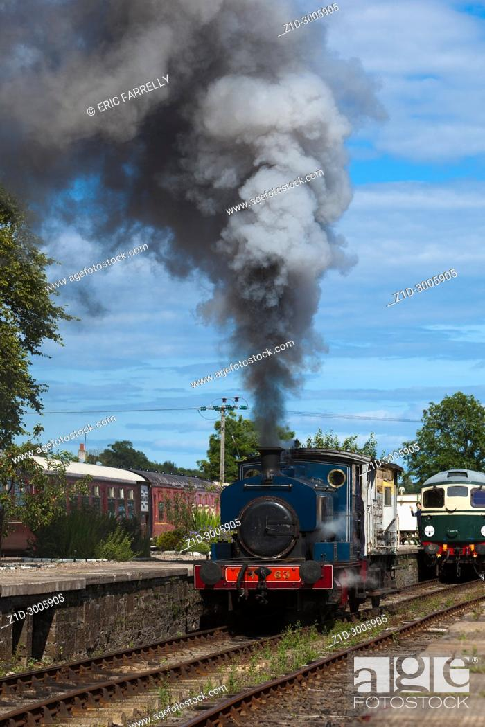 Imagen: steam engine Caledonian railways Montrose Scotland.