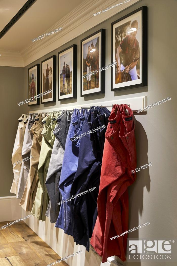 Stock Photo: Trouser display. Hackett Regent Street 2019, London, United Kingdom. Architect: n/a, 2019.