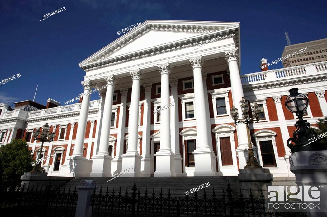 Stock Photo: Houses of Parliament, Cape Town. South Africa.