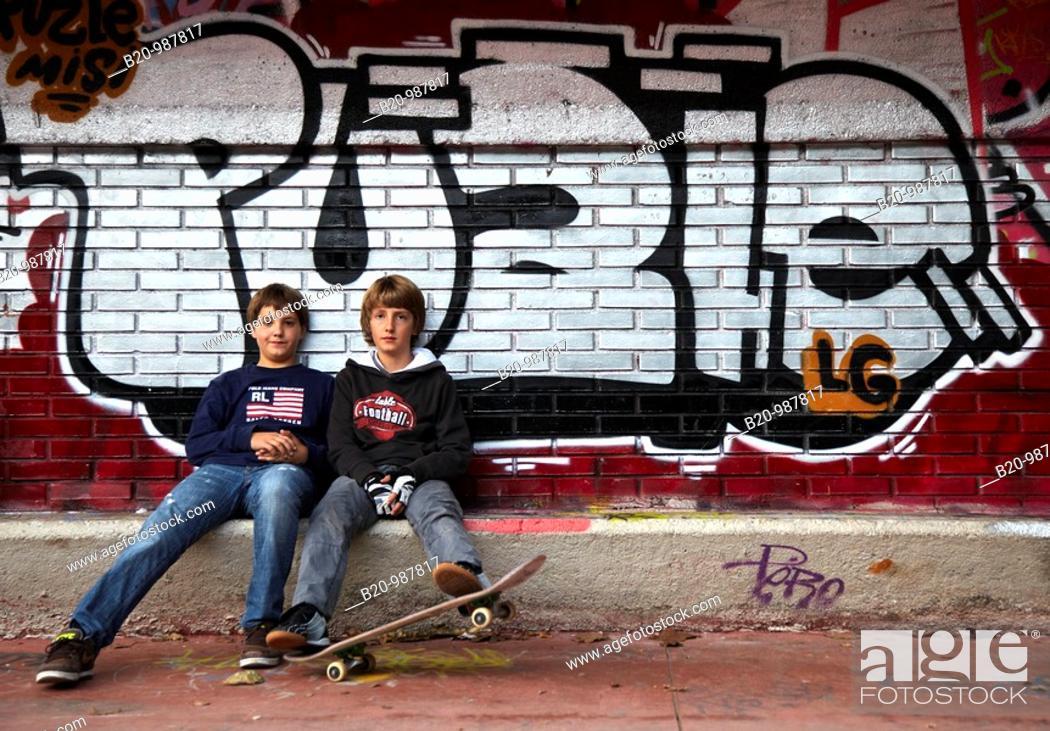 Stock Photo: Skate park, Donostia, San Sebastian, Gipuzkoa, Euskadi, Spain.
