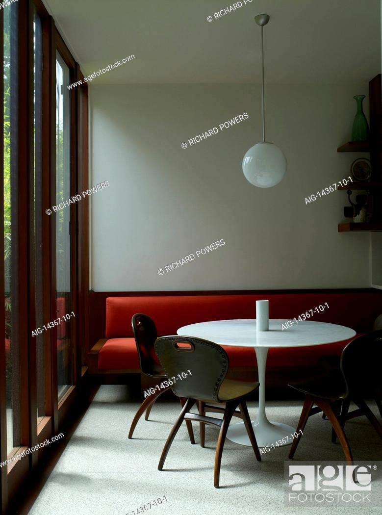 Fine Vintage Chairs At Eero Saarinen Tulip Table With Red Bench Uwap Interior Chair Design Uwaporg