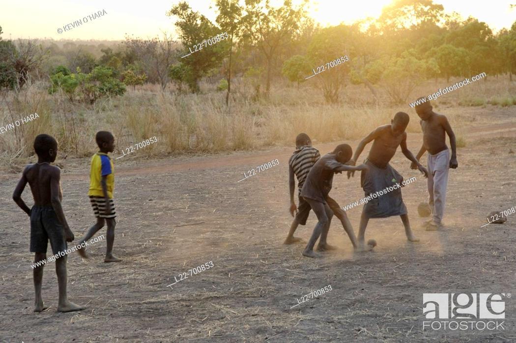 Stock Photo: Lobi village of Niobini. Burkina-Faso. Western Africa.