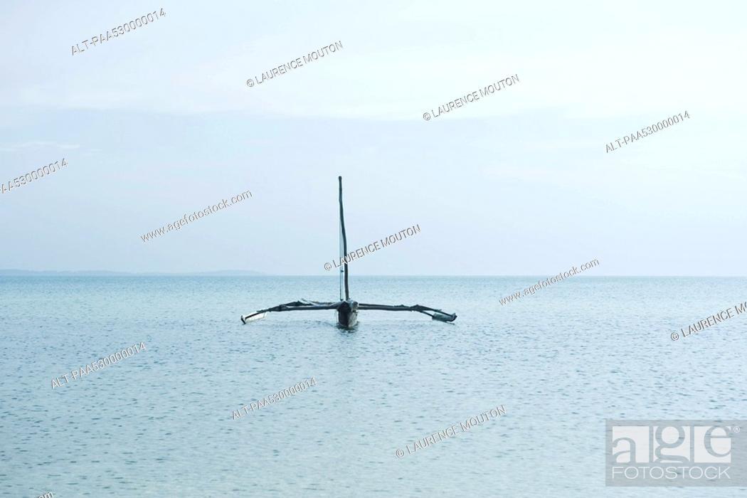 Stock Photo: Zanzibar, Tanzania, trimaran on ocean.