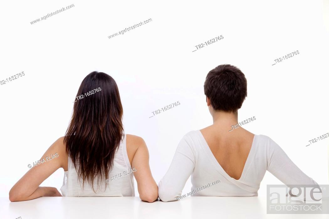 Stock Photo: Two women.