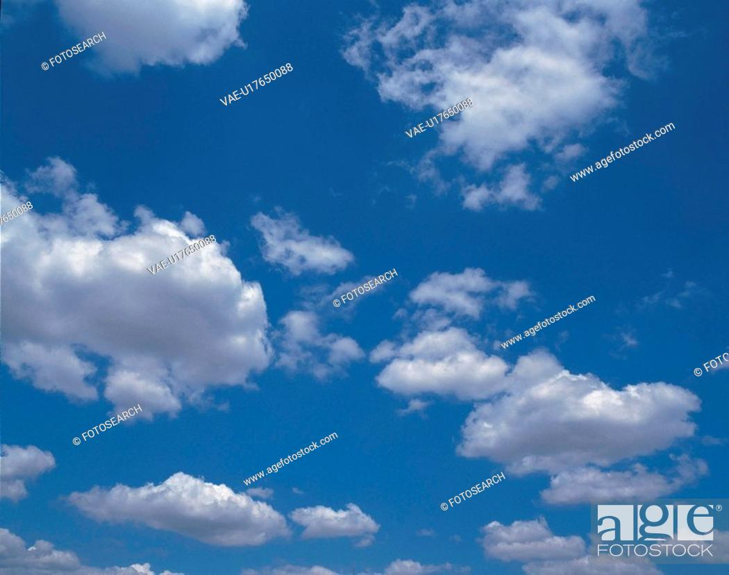 Stock Photo: blue sky, blue, clouds, scenic, natural world, cloud.