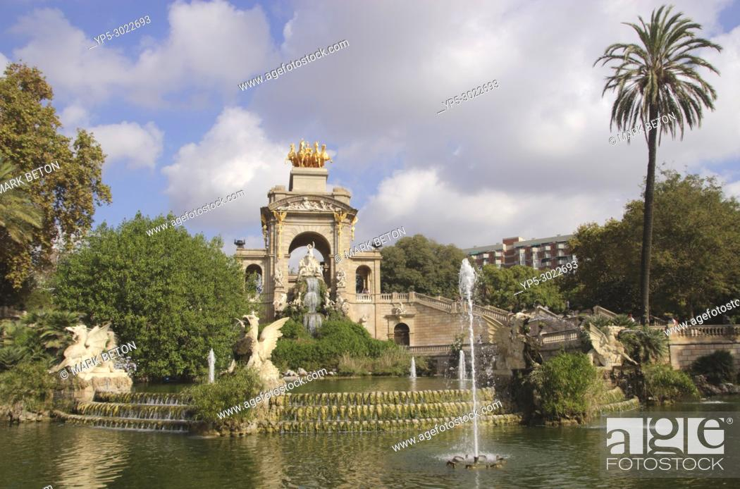 Stock Photo: Cascada at Parc de la Ciutadella, Barcelona, Spain.