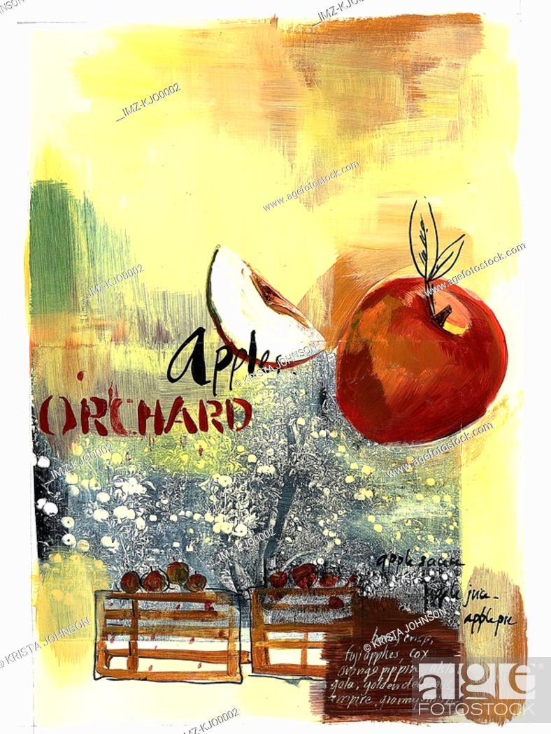 Stock Photo: apple orchard.