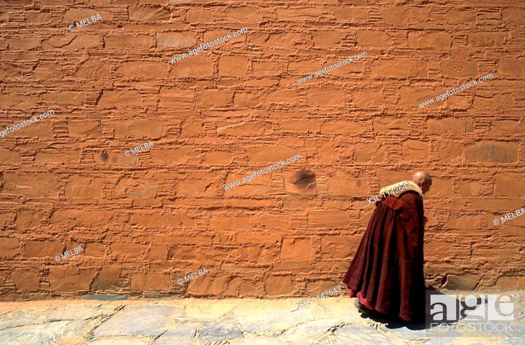 Stock Photo: Labrang monastery  Xiahe  Tibet.