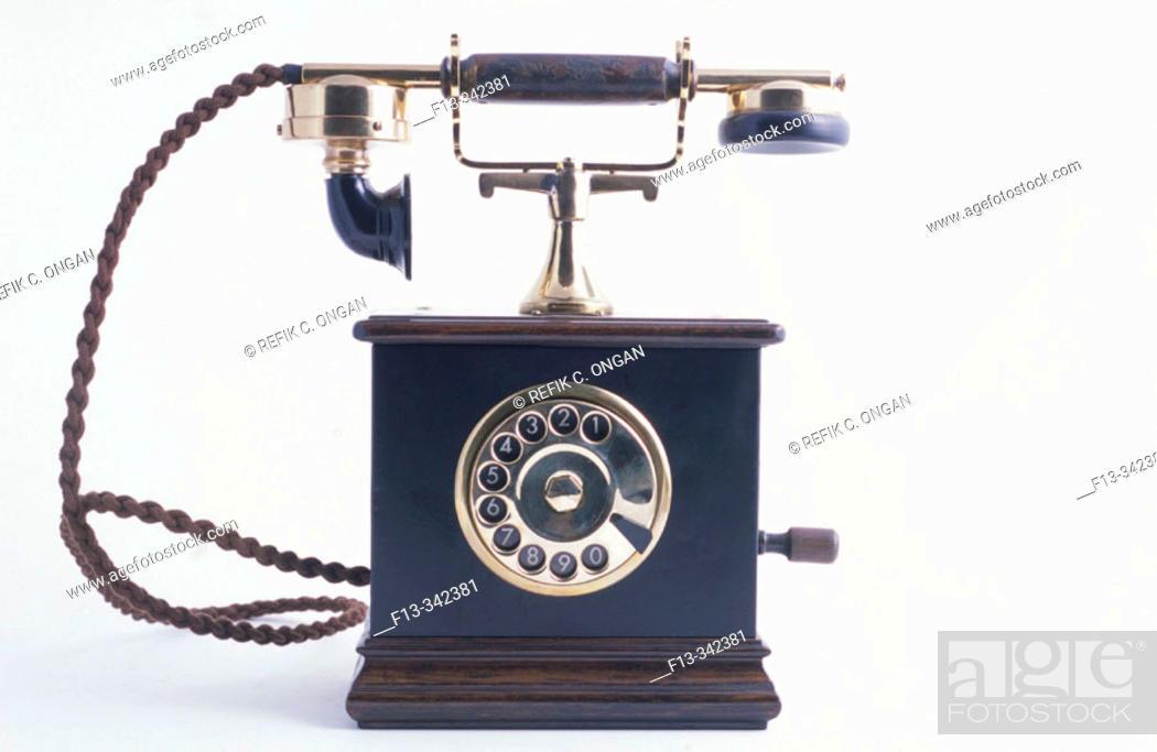 Stock Photo: Phone with magneto.