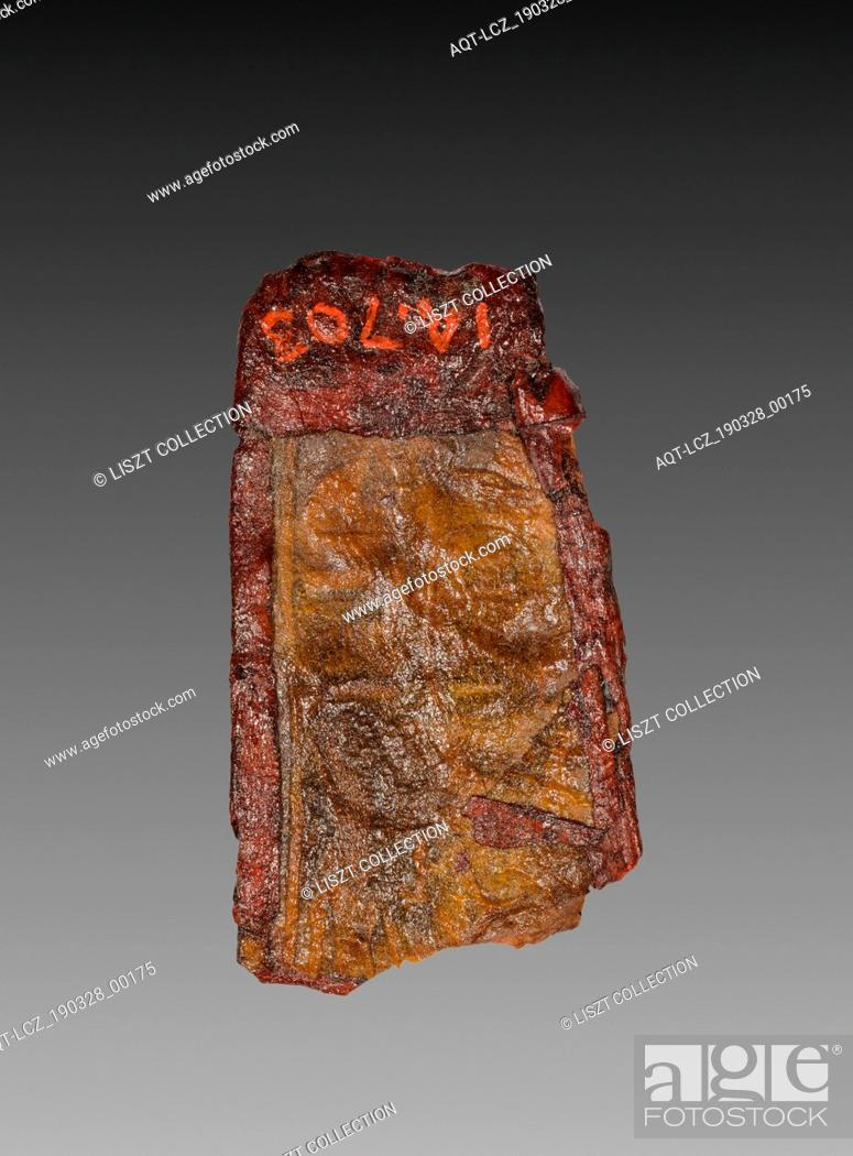 Stock Photo: Tab from Mummy Band, 945-715 BC. Egypt, Third Intermediate Period, Dynasty 22, reign of Osorkon I. Stained leather; overall: 3.3 cm (1 5/16 in.).