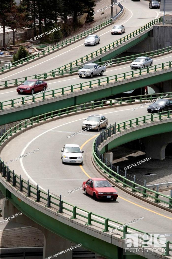 Stock Photo: Highway ramps, Providence, Rhode Island, USA.