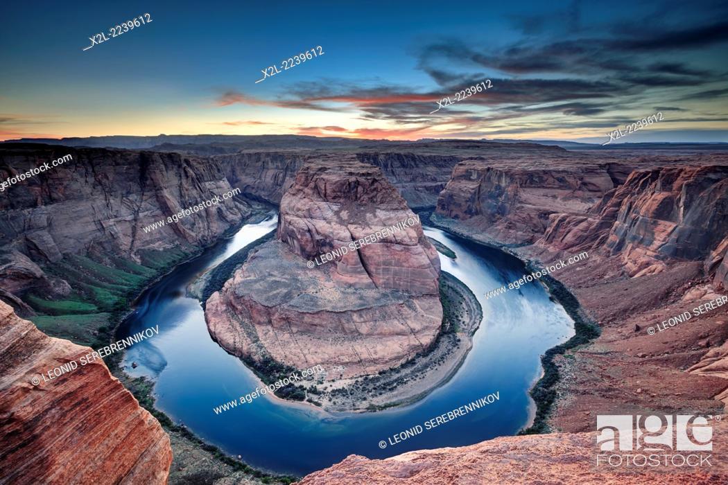 Stock Photo: Horseshoe Bend. Page, Arizona, USA.