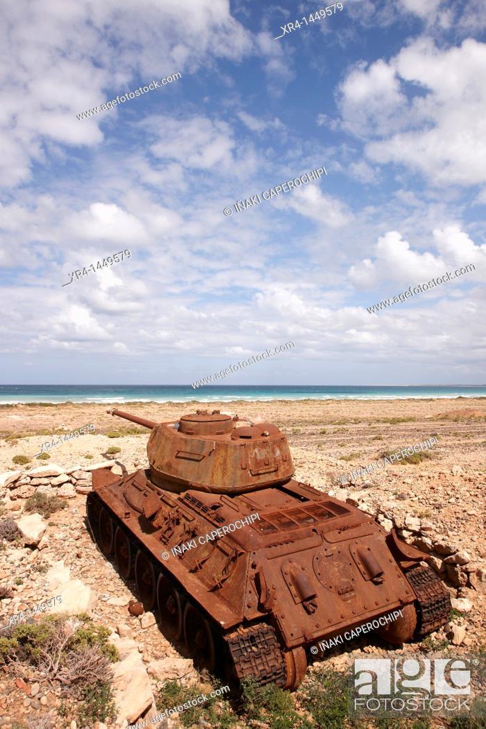 Stock Photo: Battle tanks, Soqotra Island, Hadramawt, Yemen.