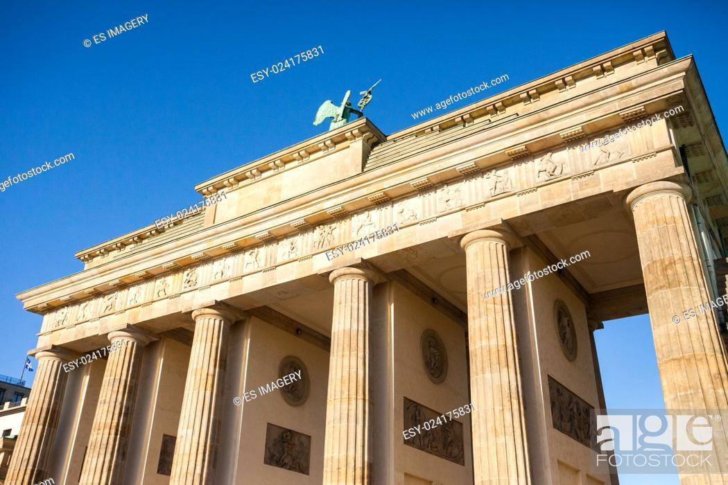 Stock Photo: Brandenburg Gate (Brandenburger Tor) in Berlin, Germany.
