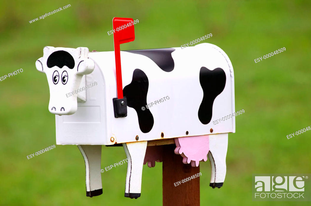 Stock Photo: Cow Mailbox.